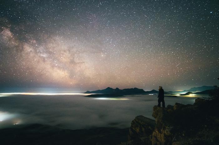 Автопортрет Млечный путь, Туман, Пейзаж, Небо, Коктебель, Крым, Фотография