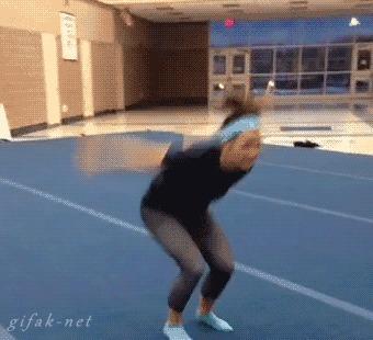 Про акробатику и гимнастику. Жесткий спорт. Акробатика, Гимнастика, Травма, Спорт, Гифка, Видео, Длиннопост