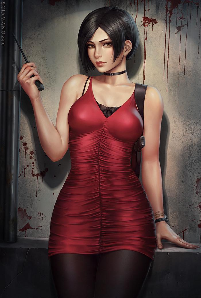Ada Wong Art Арт, Sciamano240, Resident Evil, Resident Evil 2: Remake, Ada Wong, Девушки
