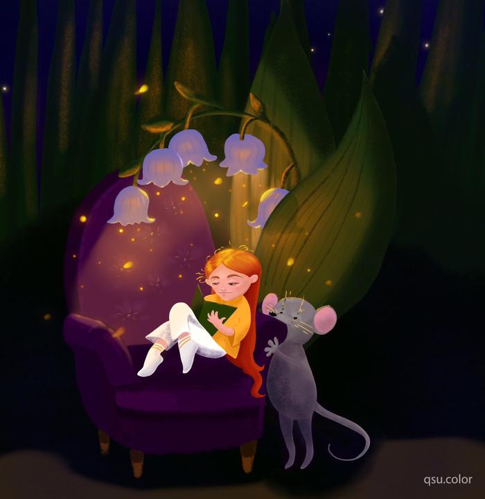 Волшебные картинки Procreate, Рисунок, Цифровой рисунок, Вода, Дюймовочка, Волшебство, Сказка