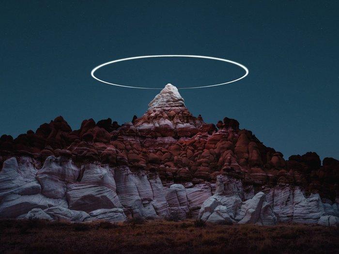 Фотография дрона с большой выдержкой