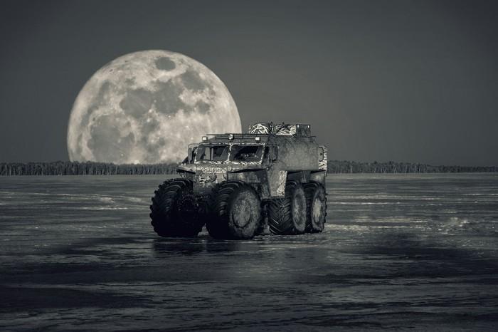 Обработка в Snapseed Snapseed, Двойная экспозиция, Луна, Обработка фотографий