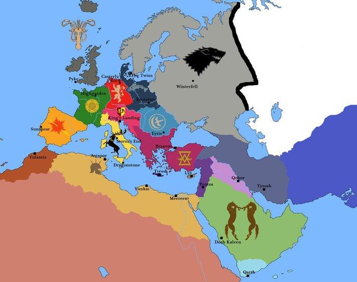 Игра Престолов на карте Европы Игра престолов, Карты, Параллельные миры, Фан-Арт, Длиннопост