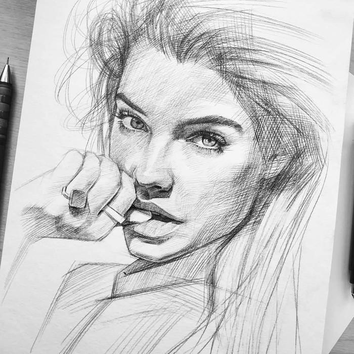 Как вам Варвара? Быстрый портрет в карандаше.