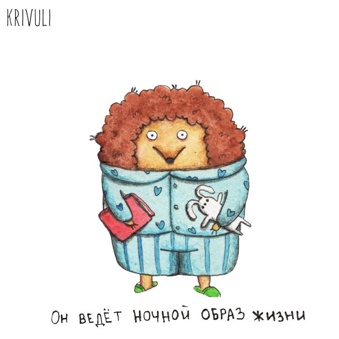 Ёжик Ёжик, Акварель, Юмор, Животные, Картинки, Иллюстрации, Длиннопост