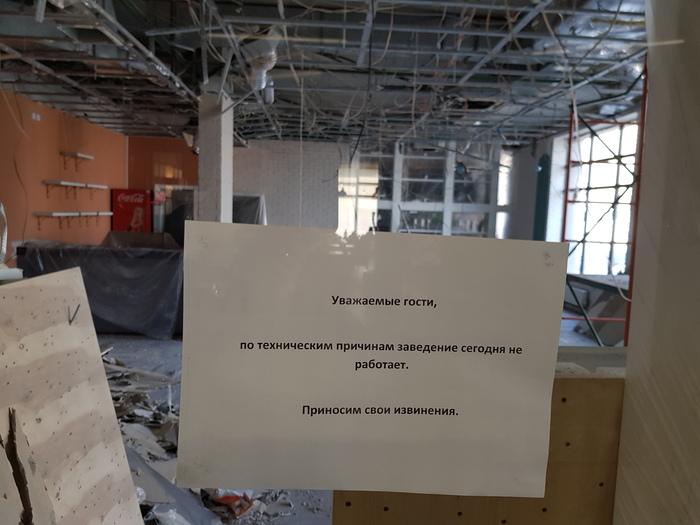 """""""Сегодня наш бар закрыт по техническим причинам"""" :) Строительство, Ошибка, Забавное"""