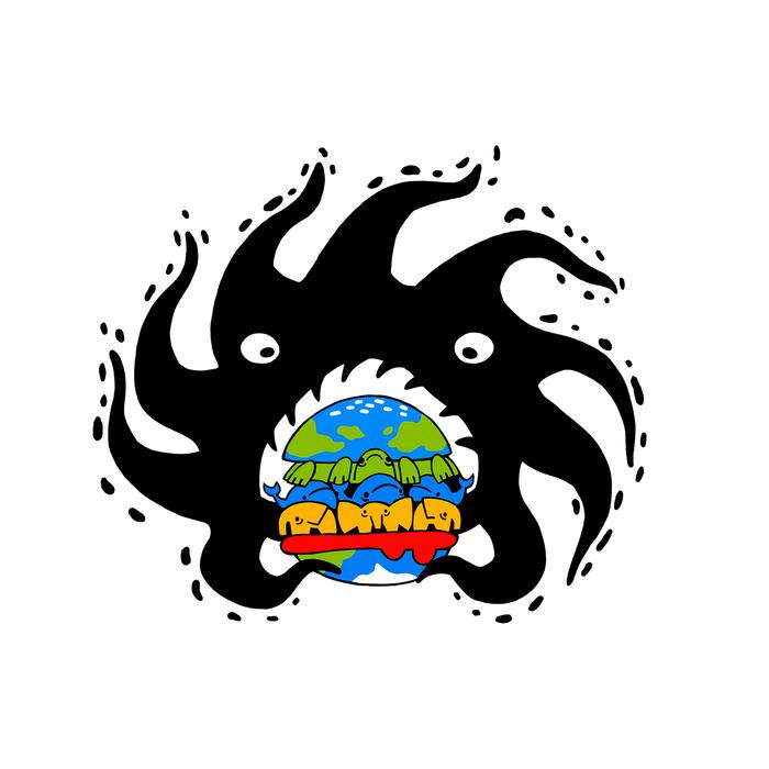 Завтрак Чёрной Дыры День космонавтики, Черная дыра, Космос, Плоская земля, Арт, Рисунок, Цифровой рисунок, Фастфуд