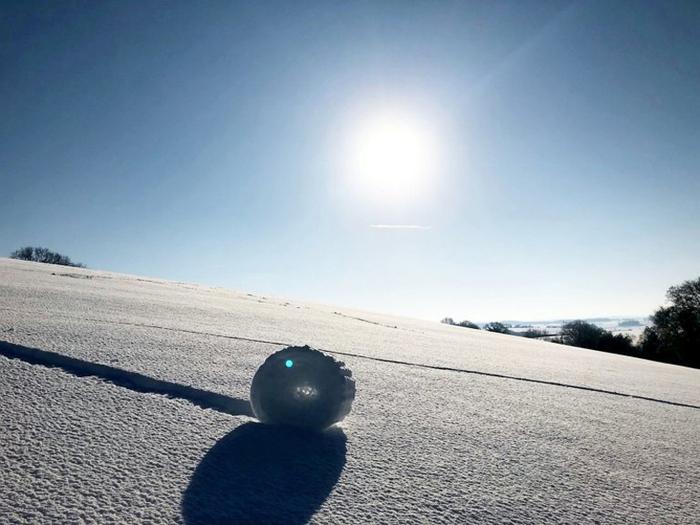 Снежные рулоны в Англии Снег, Англия, Интересное, Длиннопост
