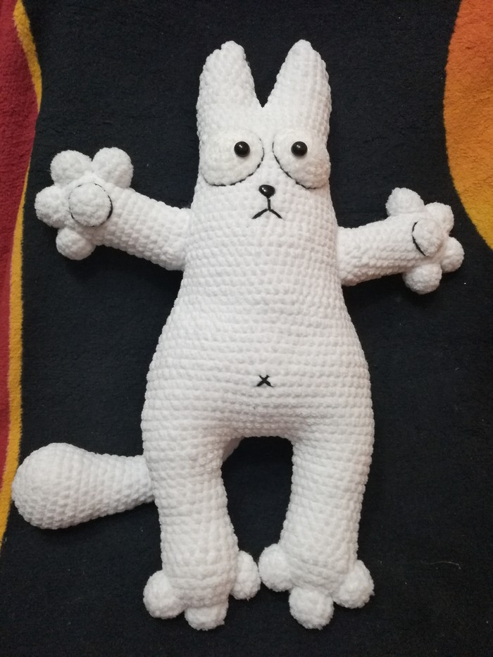 Кот, как пополнение коллекции Амигуруми, Кот Саймона, Вязание крючком, Длиннопост