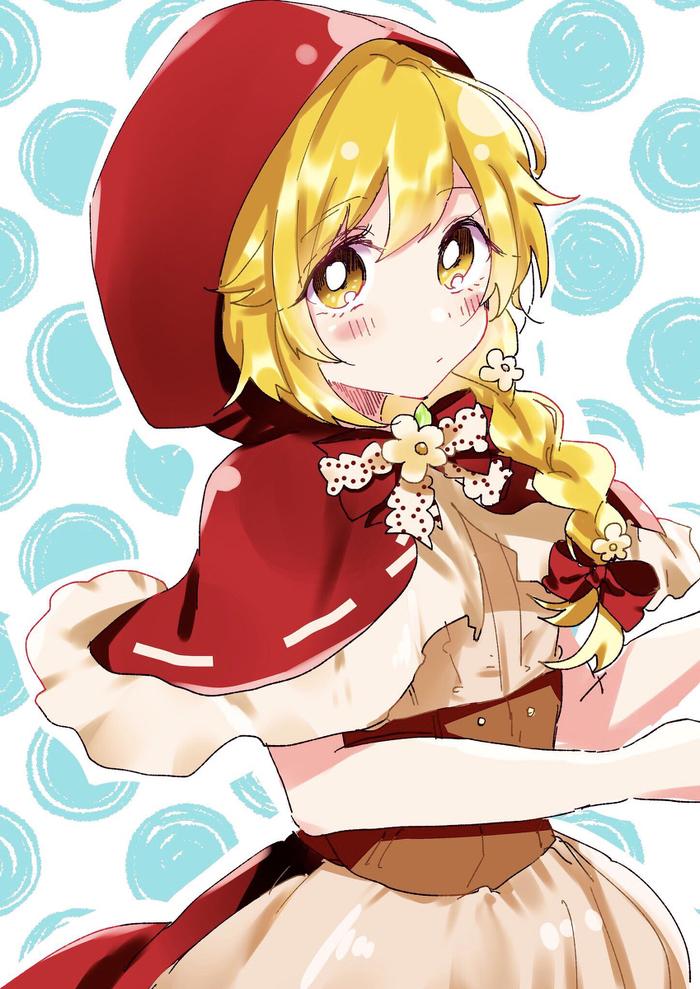 Красная шапочка Аниме, Anime Art, Monogatari series, Shinobu Oshino