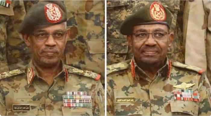 Новый президент Судана - слева, старый - справа.