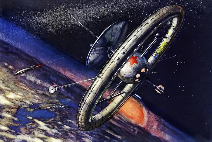 Космическая гонка глазами художников История, Ретрофутуризм, Космос, День космонавтики, Длиннопост