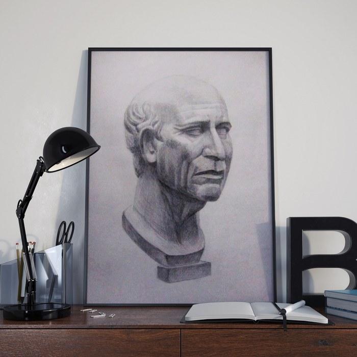 Приветственное Творчество, Рисунок карандашом, Рисунок, Академический рисунок, Бюст, Мужчина