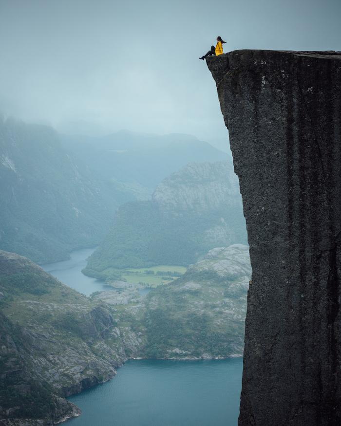 Скала Проповедника(Preikestolen) Норвегия, Nikon, D850, Preikestolen, Пейзаж, Портрет, Скалы, Фотография