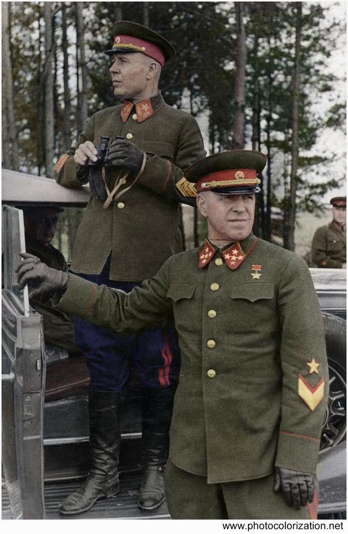 Моя колоризация Колоризация, Великая Отечественная война, Жуков, Тимошенко, Вторая мировая война, СССР, Длиннопост