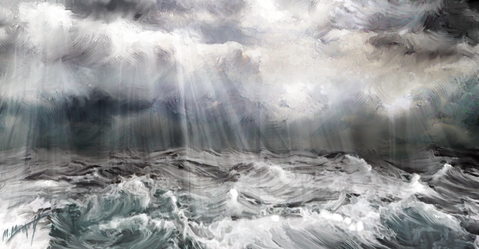 Ещё рисунки на тему скандинавских мифов Скандинавская мифология, Сюрреализм, Картина, Арт, Небо, Пейзаж, Длиннопост, Горы, Мифология