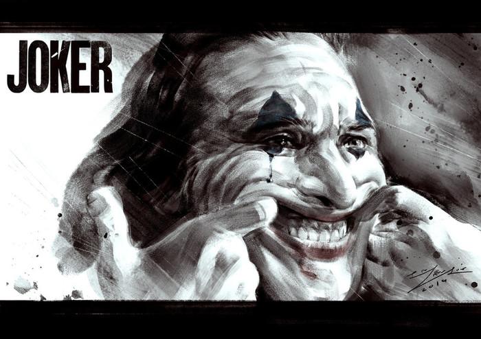 Смейся — и весь мир будет смеяться вместе с тобой, плачь и ты будешь плакать в одиночестве Джокер, Фильмы, Арт, DC, Хоакин Феникс