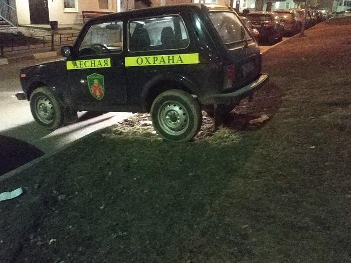 Лесная охрана Неправильная парковка, Зеленоград, Андреевка
