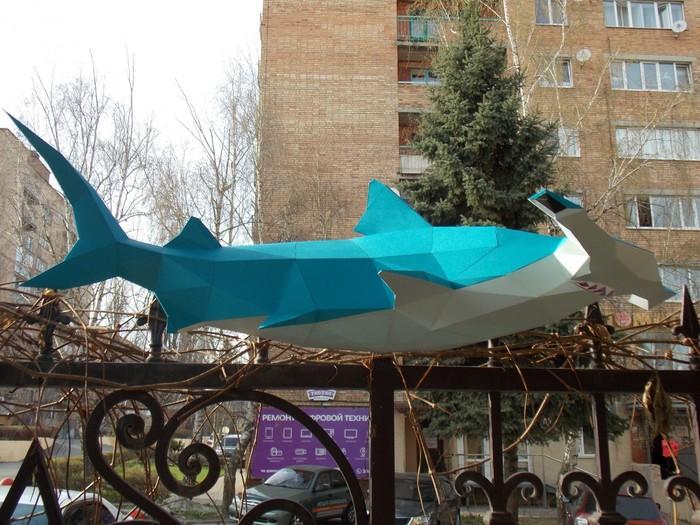 Акула молот papercraft Papercraft, Акула, Своими руками, Рукоделие с процессом, Длиннопост