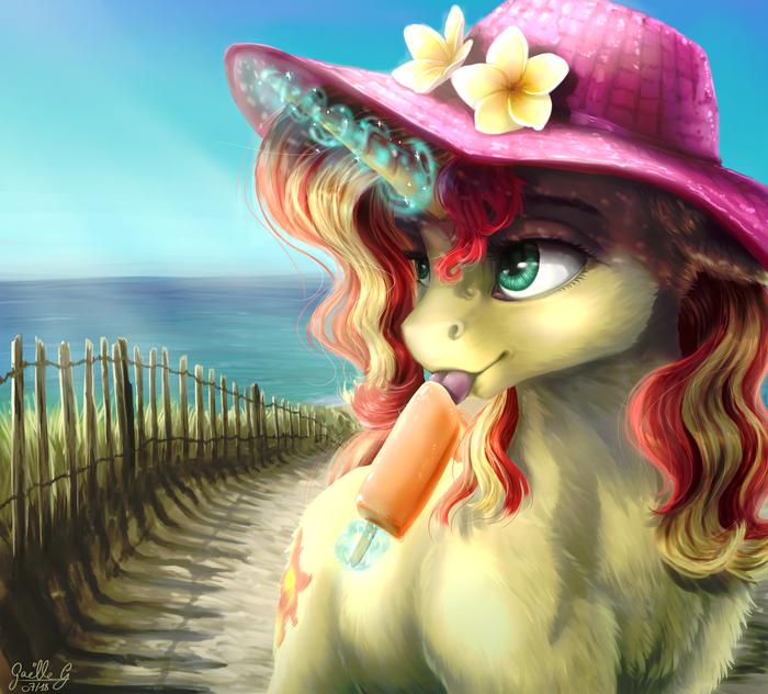 Summer Sunset My Little Pony, Sunset Shimmer, Лето, Мороженое, Gaelledragons