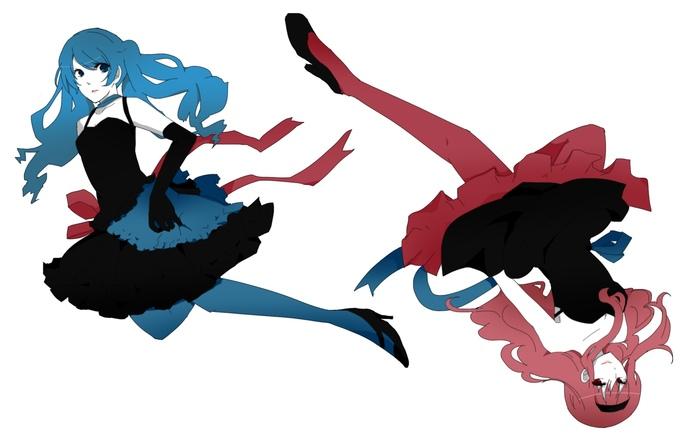 Красный и синий