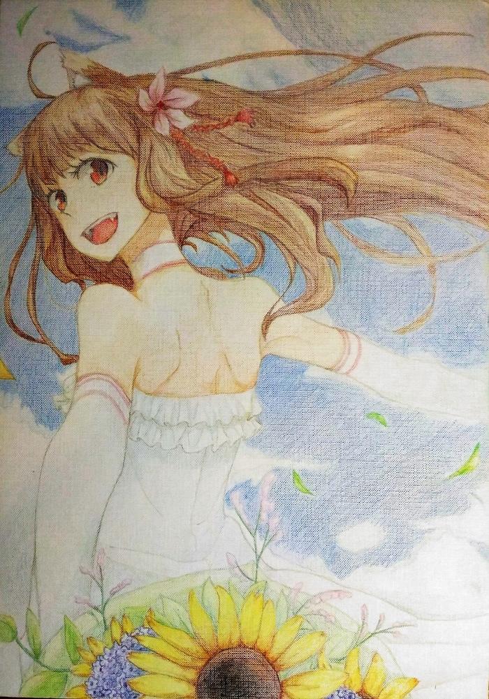 Холо Мудрая Anime Art, Аниме, Horo Holo, Волчица и пряности