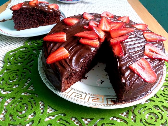 Быстрый шоколадный пирог Пирог, Шоколадный пирог, Видео, Длиннопост, Рецепт