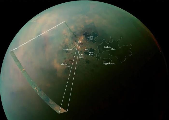 Глубокие метановые озера и моря обнаружены на Титане Природа, Астрономия, Титан, NASA, Кассини, Космос, Длиннопост