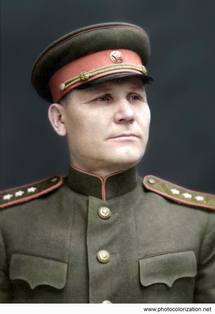 Моя колоризация Колоризация, Великая Отечественная война, Конев, СССР, Чтобы помнили, Длиннопост