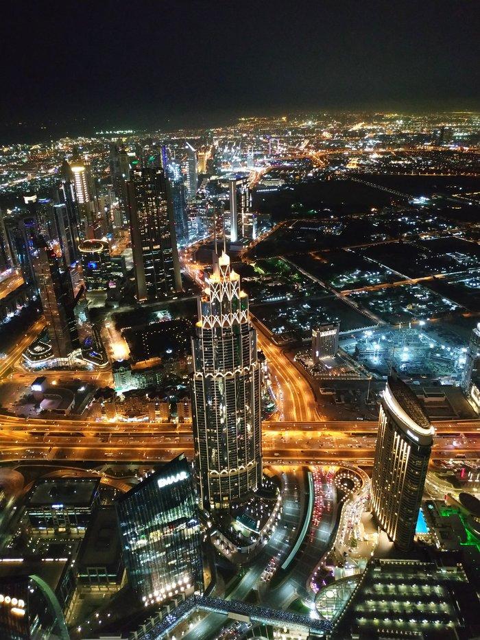 Дубай ночью Дубай, Бурдж-Халифа, ОАЭ