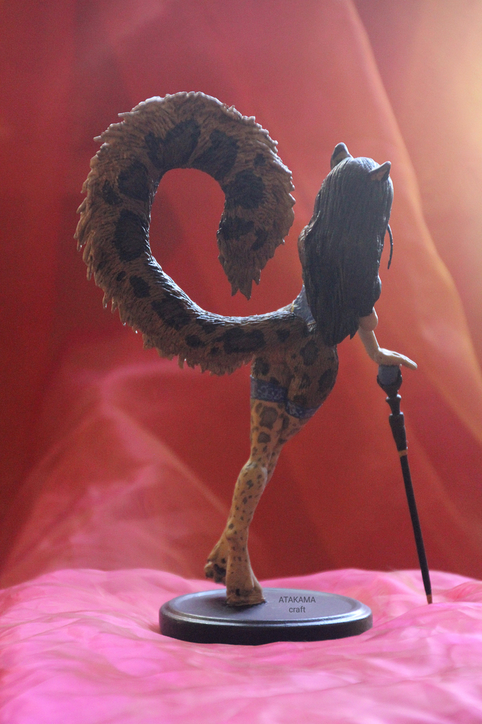 Фурри леопард - фигурка ручной работы Фурри, Фанатское творчество, Фигурка, Своими руками, Furry Art, Ручная работа, Статуэтка, Длиннопост