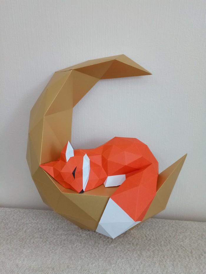 Лисенок на луне. Изделия из бумаги, Papercraft