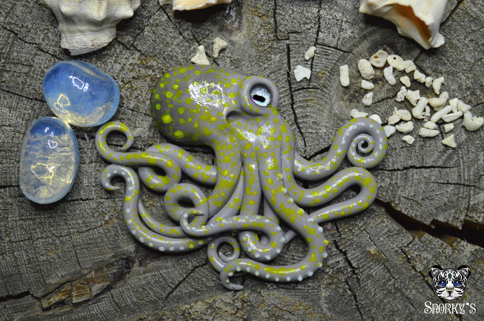 Мои морские штуки) Море, Полимерная глина, Осьминог, Наутилус, Медуза, Скат, Акула, Рукоделие без процесса, Длиннопост