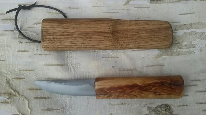 Якут в цельнодеревянных ножнах. Якутский нож, Деревянные ножны, Длиннопост