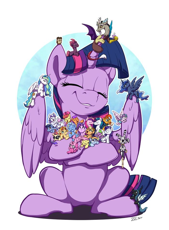 So Many Friends My Little Pony, Cutie Mark Crusaders, Mane 6, Princess Celestia, Princess Luna, Princess Cadance, Tsitra360