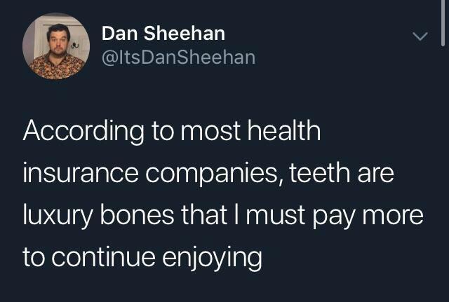 Зубы – это роскошь Зубы, Reddit, Медицинское страхование, Скриншот