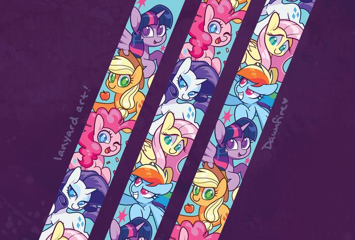 The Lanyard Art My Little Pony, Mane 6, Trixie, Starlight Glimmer, Celebi-Yoshi