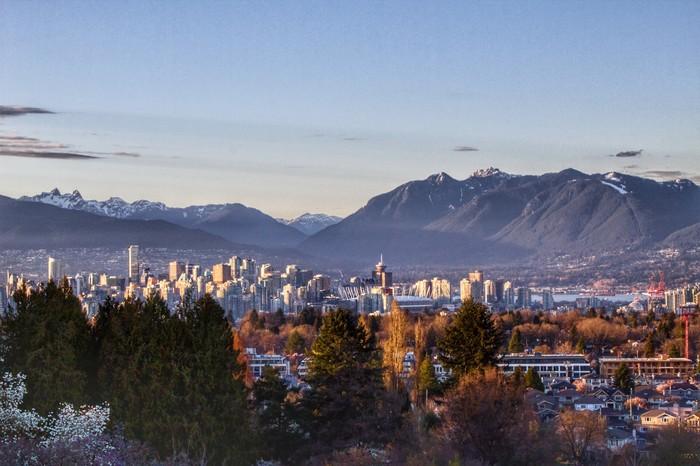 Вечерний Ванкувер - находка для фотографа