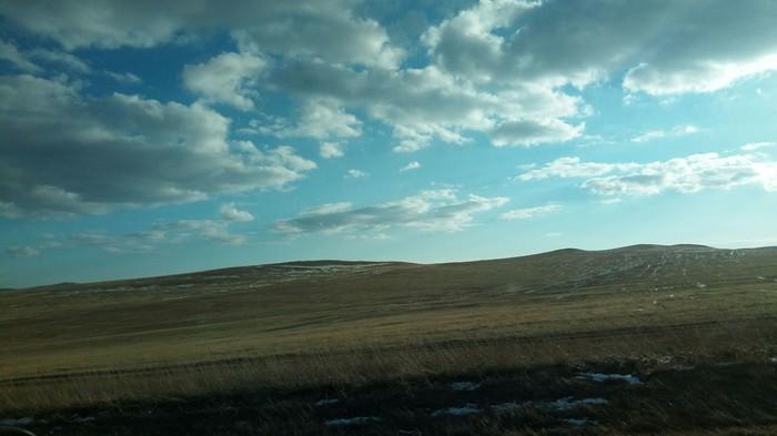 Красоты Республики Хакасия Хакасия, Автопутешествие, Скорость, Вечер, Перевал, Спуск с горы