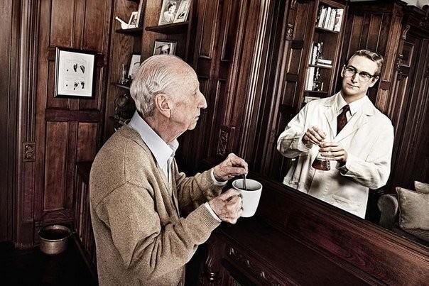 """""""Зеркало помнит"""" - фотопроект Tom Hussey Фотография, Память, Время, Молодость, Старость, Зеркало, Длиннопост"""