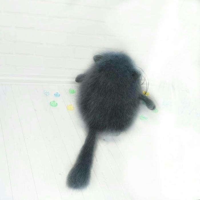 Пушистый кот Рукоделие без процесса, Вязание крючком, Амигуруми, Вязаные игрушки, Интерьерная игрушка, Кот, Вяжу настроение, Длиннопост