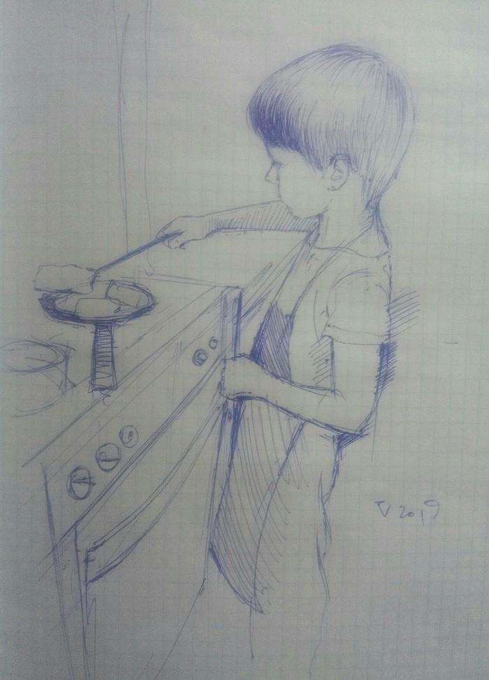 """юный повар"", скетчик"