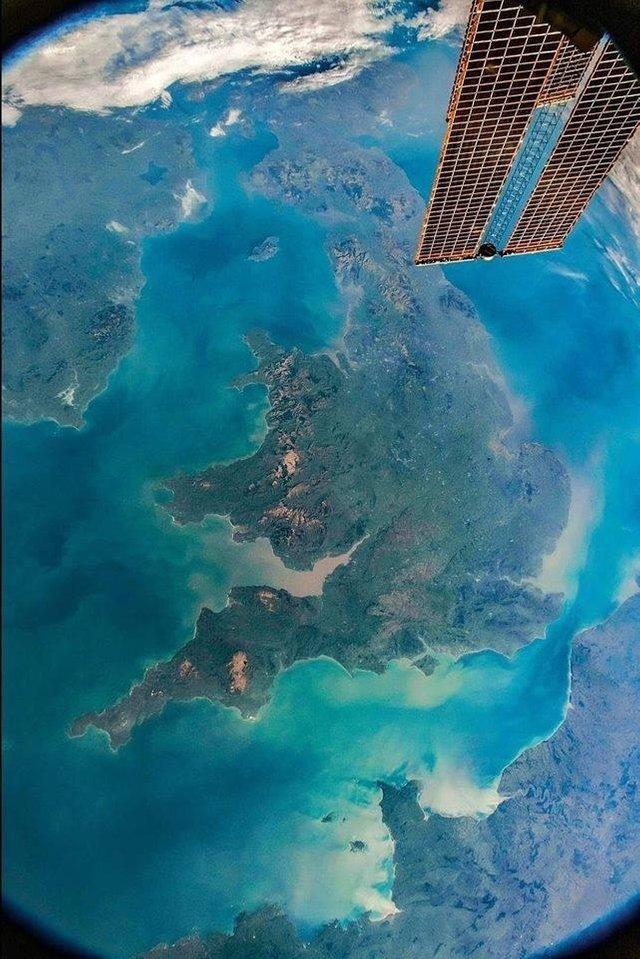 Вид на Англию из космоса.