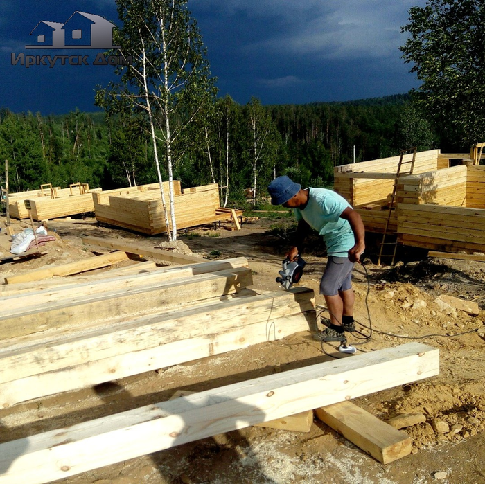 Как мы построили домик! Полный обзор проекта Стройка, Строительство, Своими руками, Новостройка, Ремонт, Работа, Видео, Длиннопост, Дом