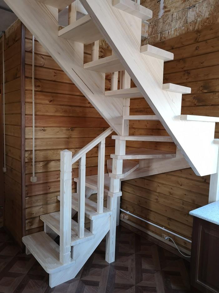 Сосновая лестница #lesenka040 Дача, Лестница, Строительство, Загородный дом, Длиннопост
