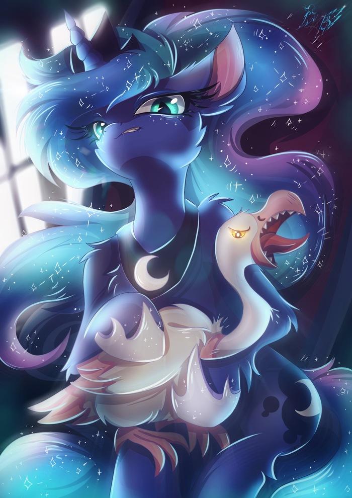 Очередная Луна My Little Pony, Ponyart, Princess Luna, Alexbluebird, MLP Season 9