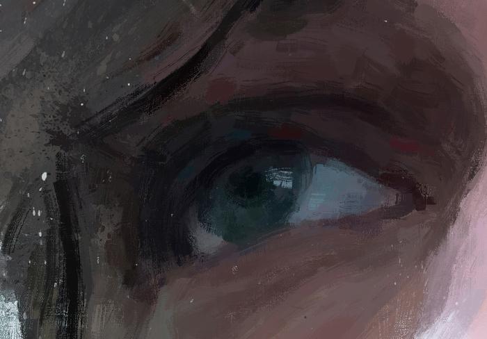 Портрет Alexander Calvert Александр Калверт, Сверхъестественное, Цифровой рисунок, Длиннопост, Рисунок, Рисунок на планшете, Актеры, Сериалы