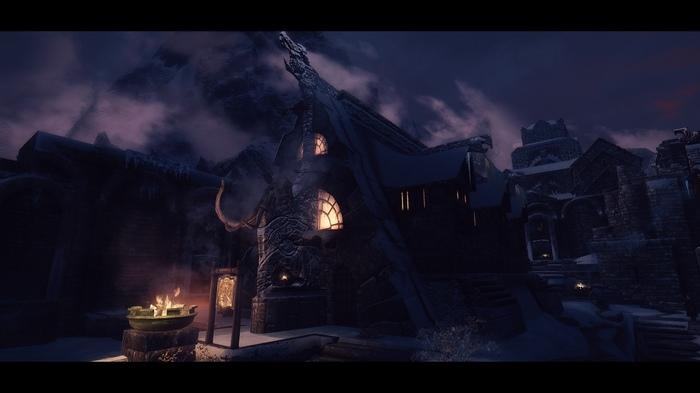 Ночной Скайрим The Elder Scrolls V: Skyrim, Вайтран, Виндхельм