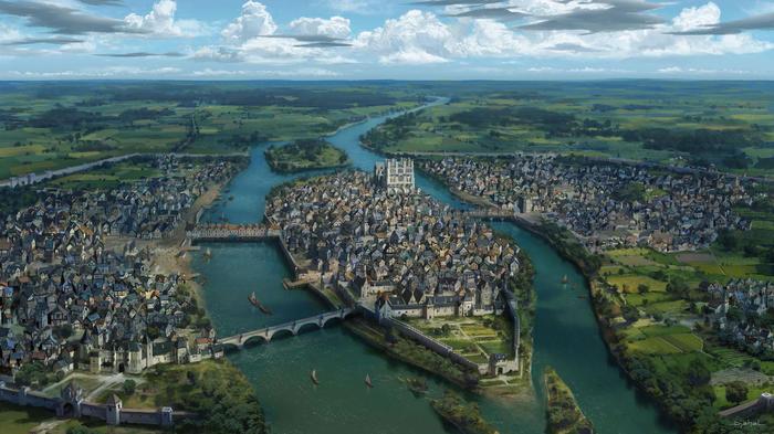 Как выглядел средневековый Париж Париж, Рисунок, Иллюстрации, История, Notre Dame De Paris, Средневековье, Франция