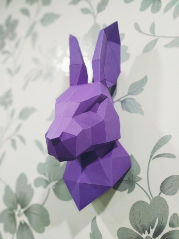 Бумажное моделирование: ещё больше низкополигональных моделей Papercraft, Олень, Олененок, Заяц, Рукоделие без процесса, Бумажный моделизм, Длиннопост